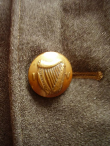Irish Volunteers Uniform Tunic and button detail