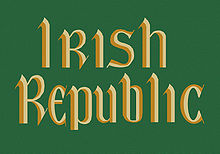 One of two flags flown over the GPO during the Rising