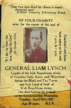 Liam Lynch Memorial card