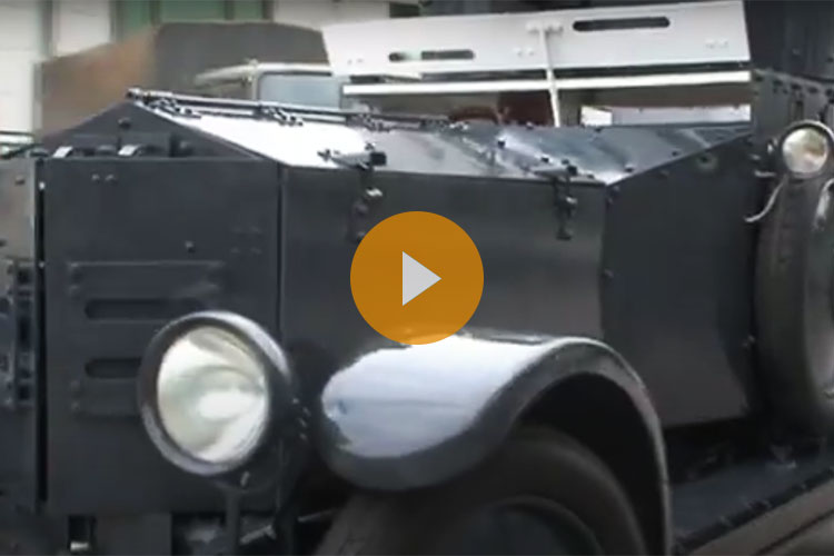 Short time lapse video of the restoration of the Rolls Royce Armoured Car