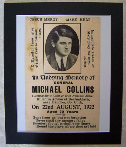 Michael Collins Memorial Death Notice