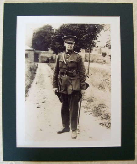 General Michael Collins with Cane Photograph