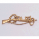 Cumann na mBan cap Badge Gold Tone