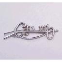 Cumann na mBan Cap Badge Silver Tone