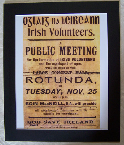 Irish Volunteers Formation Poster Print