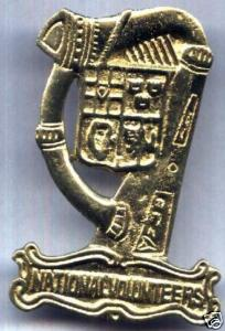 National Volunteers Cap Badge
