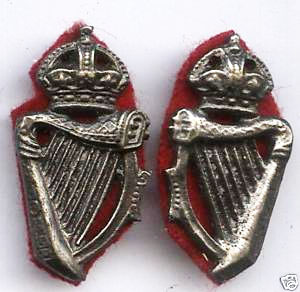 Royal Irish Constabulary Collar Dogs Pair