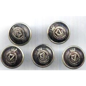 5 Original Royal Ulster Constabulary R.U.C Buttons