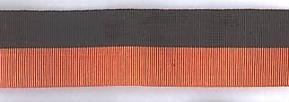 Black and tan medal ribbon