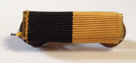 black and tan medal ribbon bar
