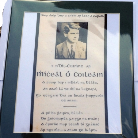 michael collins memorial death card