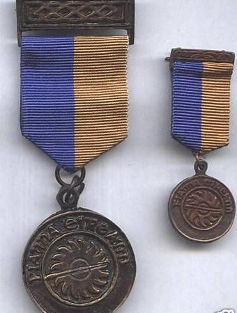 MINITURE IRISH NA FIANNA JUBILEE MEDAL 1909-1959