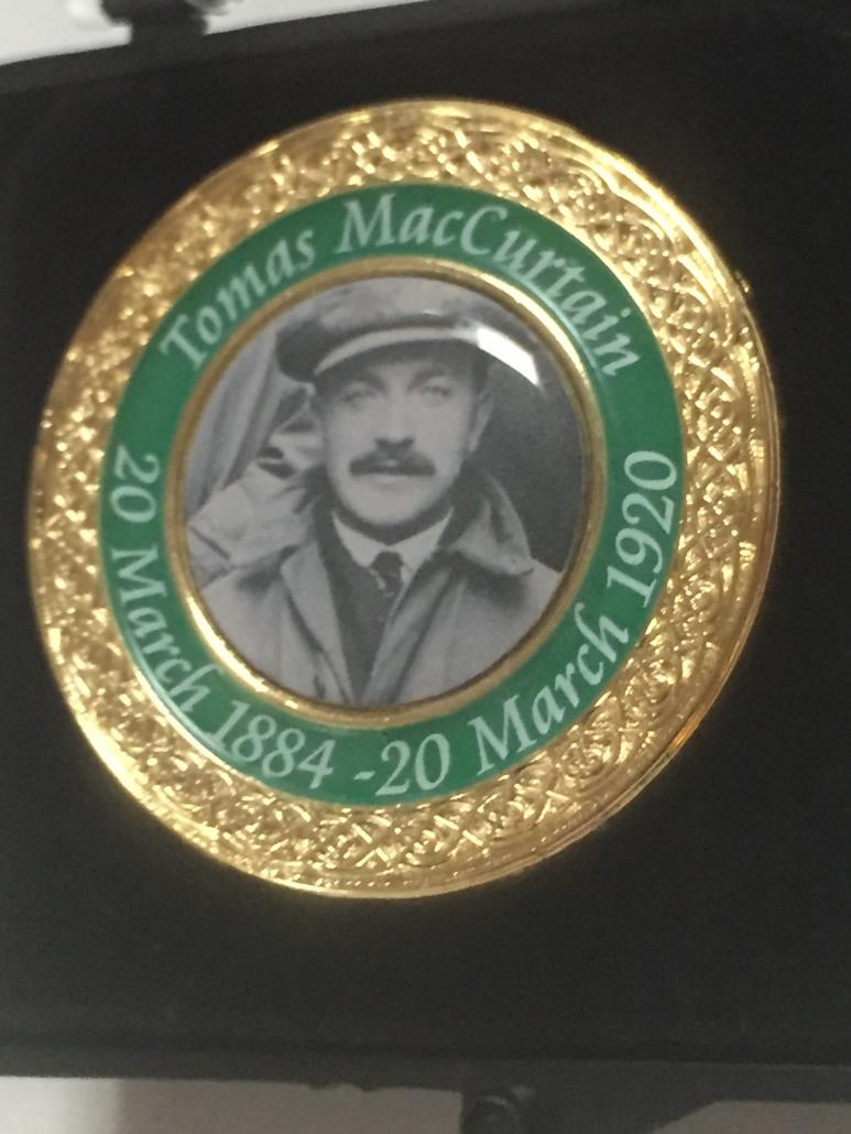 tomas mac curtain badge